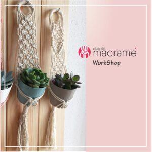 Taller Colgador de plantas para pared - wall Plant hanger. tejido en macramé, utilizando cuerdas de algodón.