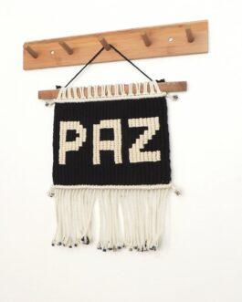 P A Z – Tapiz en Macramé