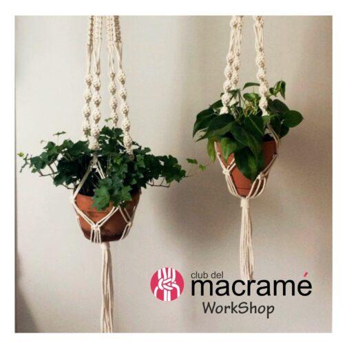 Taller de Colgador de Plantas tejido en macrame
