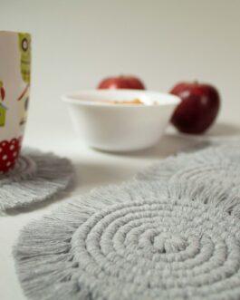 kit DIY para hacer Posavasos redondos en Macramé
